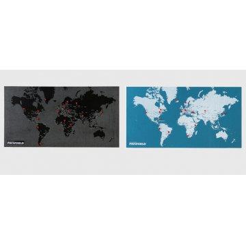 Mapa Pin World L