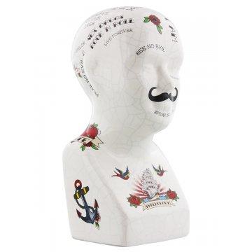 Cabeça porcelana phrenology