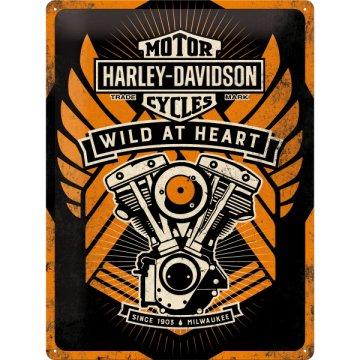 Placa Metálica Harley Wild Heart